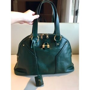 YSL Muse LARGE Green Buffalo Leather Bag